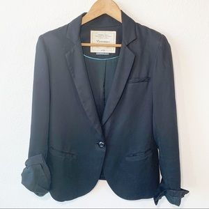 Anthro Cartonnier Single Button Classic Blazer